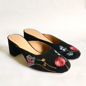 Nanette Lepore Leather Embroidered Peggy Mule 10
